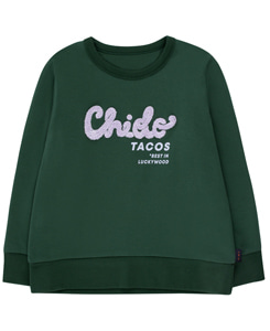 타이니코튼 CHIDO SWEATSHIRT_BOTTLE GREEN/LILAC